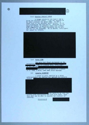 ASIO file - Charles Chicka Dixon, Blacked out areas