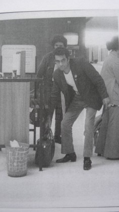 ASIO photo, Chicka leaving to go to China, Oct 1972